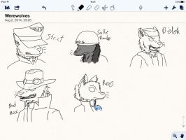 I've drawn people's OCs are werewolves by Shy-Sniper