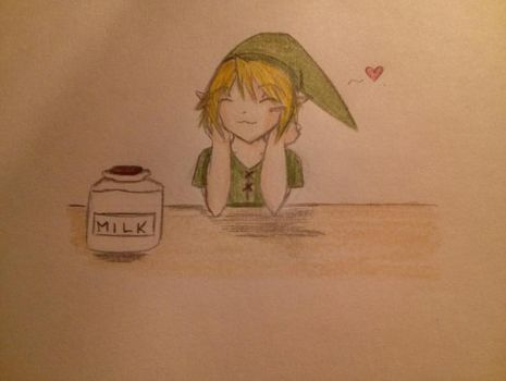 Link at the milk bar. by Cauchemar-ironique