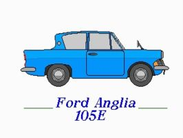 Ford Anglia 105E by YanamationPictures