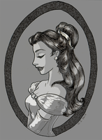 Belle in black and white by TaijaVigilia
