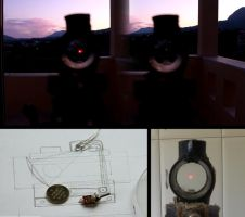 Homemade red dot sight replica by SomethingWild7