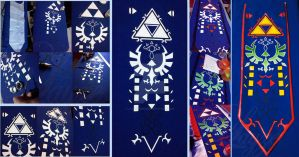 Princess Zelda Ocarina of Time Apron Progress by LayzeMichelle