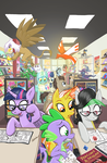 I did a cover for pony comics by Pedantia