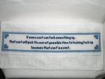 Tucker's Law tea towel by MasterPlanner