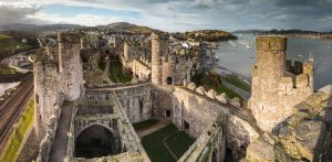 Conwy Castle Panorama by TomGreenPhotos