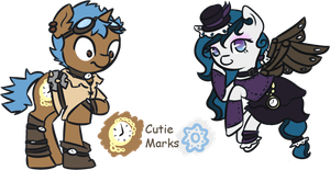 CUSTOMS:Steampunk Ponies by favouritefi