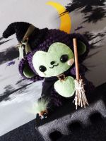 Witch Monkey Amigurumi by cuteamigurumi