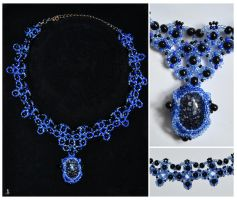 Midnight Blue Necklace by JankaLateckova