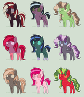 Pony Adopts 5 [ 3/9 OPEN] by SuperFancyAdopts