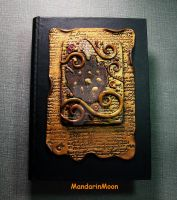 Ancient Tablet Polymer Clay Book Box by MandarinMoon
