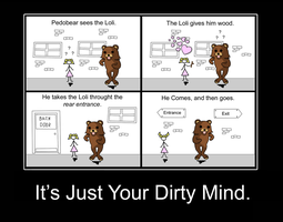 Pedobear: It's Just Your Dirty Mind by PerfectBlue97