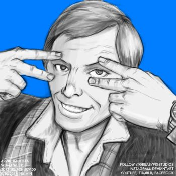 Arvin Bautista Sketches 2017 67/100: Adam West by greasypigstudios