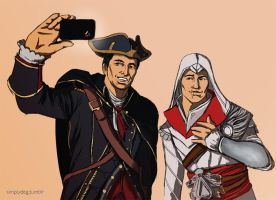 assassins selfie by thesimplyLexi
