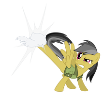 Daring Do petting a kitten by Martinnus1