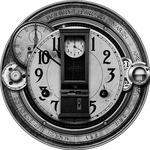 Steampunk Greyscale Master Time Icon by yereverluvinuncleber