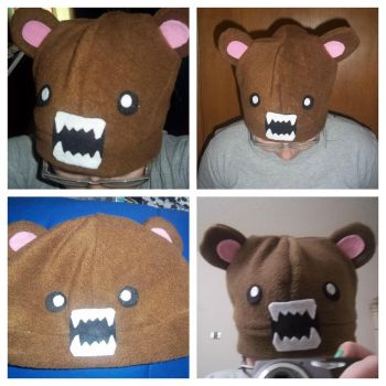 Brown Angry Bear Hat by SuperRainbowOctopus