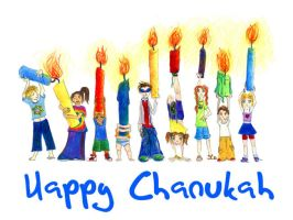 Chanukah kids by jaevairny