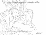 The Love Of Wolfs Sketch by Chibi-Cola-SkyWolf62