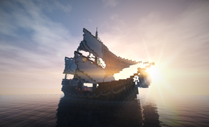 Minecraft build : A Ship  (by Flix and ISi) by FlixandISi
