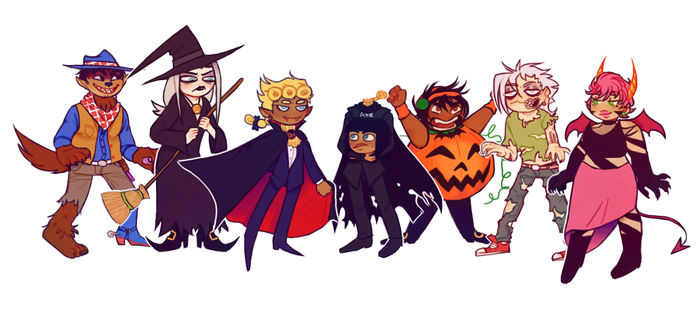 JJBA5: halloween my dudes by loutrem
