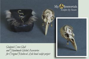 Skull and Satchel Accessories for Medieval Loki by my-immortals