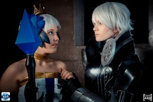 Odin Sphere - Valkyrie and Knight by DahliaGrimm