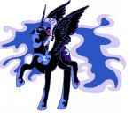 Nightmare Moon {Colored} by Voltaradragoness