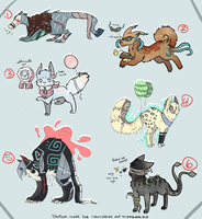 Song Themed Adopts [3/6 Open] by PipCookiesAdopts