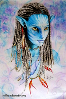 neytiri avatar by Hollow-Moon-Art