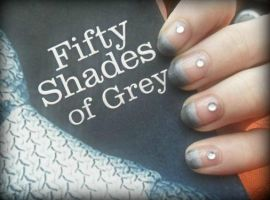 Fifty Shades of Grey by NailedItWithGlitter