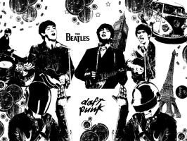 The Beatles and Daft Punk by DaftWolfie