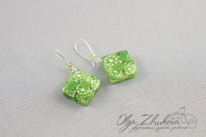 Earrings Mojito by polyflowers