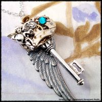 A Steampunk Fairy Key Pendant by SoulCatcher06
