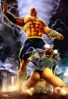 STREET FIGHTERS - CHUNLI VS SAGAT by isikol