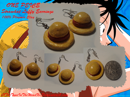 One Piece: Strawhat Earrings by xXTheTuneInTheWindXx
