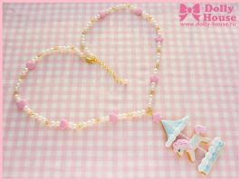 Biscuit Merry-Go-Round Necklace by Dolly House by SweetDollyHouse