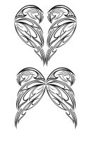 Heart and Fairy Wing Tribal by aziroth