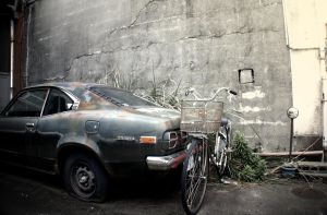 Car and bike by m-o-r-t