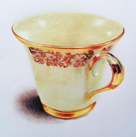 Gold rimmed cup - Colored pencils by f-a-d-i-l