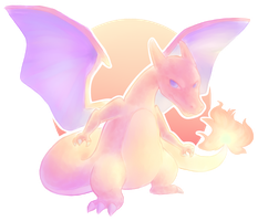 [DRAW THE POKEDEX] #006-Charizard by GREATLORDHELIX