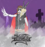 King Diamond in the graveyard colored by SephirothMichaelis