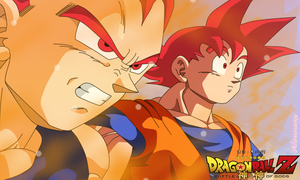Goku Y Vegeta  Ssj God Aliensurxx by aliensurxx