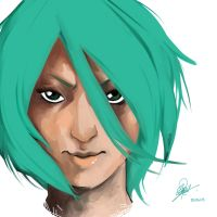 First try with Paint Tool SAI by CyrilGlerumArt