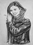 Girl in Leather Jacket by Art-Diversity