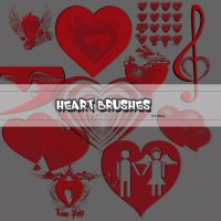 Heart vector brushes by flina