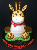 3D Giraffe Cake by Corpse-Queen
