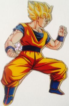 Clipping of an old card: Goku by 19onepiece90