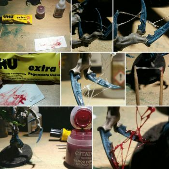 TUTORIAL! How to do stringy blood effect. by MagosStoika