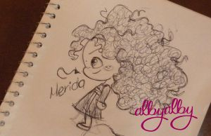 Merida in a minimi doodle by ALBY-LePetiteDreamer