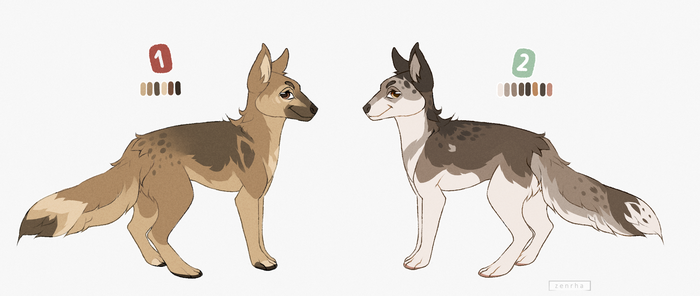 canine design auction - closed by zen-rha